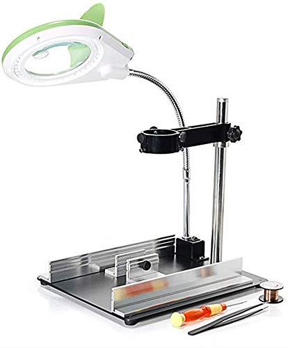 Lsmaa 8X 40 LED licht vergrootglas & bureaulamp standaard desktop-vergrotingsglazen voor reparatie, bureau, tafel, werk, kunsthandwerk, sieraden, naaien, werkbank
