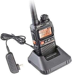 ETbotu Walkie Talkie UHF VHF Portable Flashlight UV 3R+ Ham FM Radio - US Plug