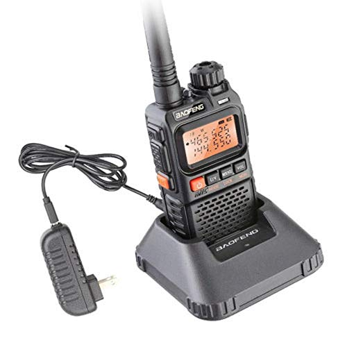 Talkie Walkie/walkie-Talkie INTERPHONE Transceptor para BaoFeng UV-3R Plus walkie-Talkie UHF VHF Portátil Linterna UV 3R + Ham Radio FM