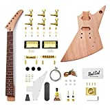 NEW 6 STRING MAHOGANY SOLID BODY EXPLORER STYLE ELECTRIC GUITAR BUILDER KIT