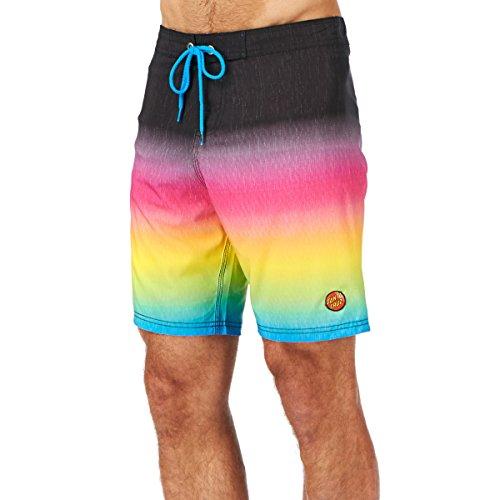 Santa Cruz Boardshorts Short de Bain, Multicolore (Fader), 2 Homme
