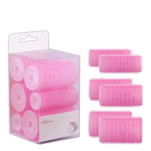 ZGYQGOO 3 Paquets en Plastique Bricolage bigoudi Ensemble Auto-adhésif Tube Curling Cheveux Outils Styling Roller