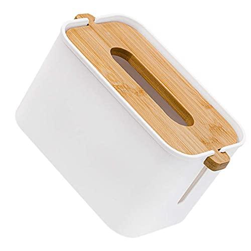 Drewniany prostokątny pojemnik na chusteczki do twarzy uchwyt na pokrywę bambusowy zdejmowany dozownik chusteczek do łazienki blat na serwetki