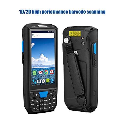 ZUKN De Poche à écran Tactile LCD Data Collector 1D 2D QR Code à Barres Laser Carte Rapide Lecteur Compatible Bluetooth GPS WiFi 4G et NFC Android 8.0 Portable PDA Scanner
