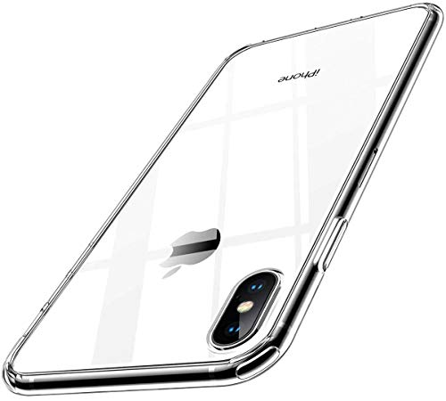 【Humixx】2021最新型 For iPhone Xs ケース For iPhone X ケース 薄型 高透明 耐衝撃 米軍MIL規格 レンズ保護 滑り止め 軽い フィット感 ワイヤレス充電対応 アイフォン10 スマホケース クリア