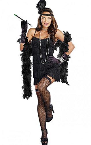 shoperama Kostüm Charleston Schwarz mit Zigarettenspitze Gr. S/M