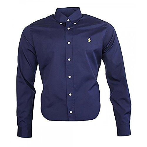 Ralph Lauren Classic Business - Camisa para hombre azul mari