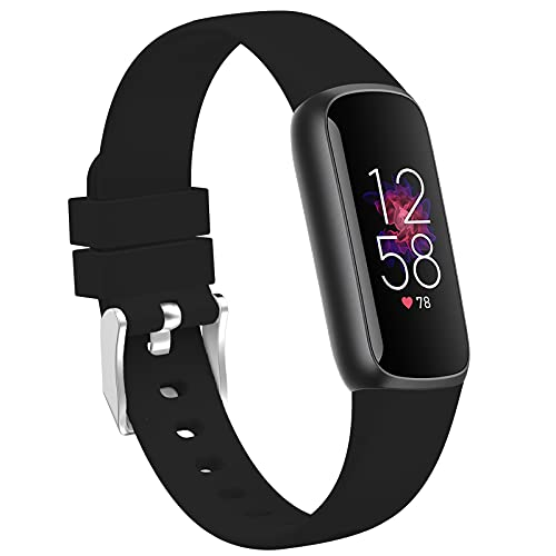 TopPerfekt Bands Fit for Fitbit Luxe, Adjustable Soft Silicone Replacement Watch Band Straps Wristbands Bracelet Fit for Fitbit Luxe Fitness and Wellness Tracker for Women Men