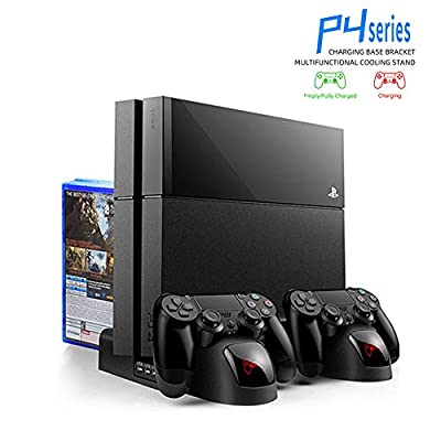 Games Discs Storage Console Cooling Fan Stand PS4/Pro/Slim Pro Controller Charger Charging Station for Play Station PS 4 Accessories