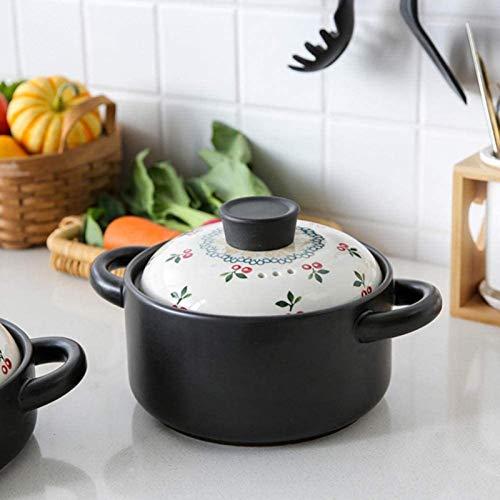 DUDDP Cacerola Olla de Arcilla para cocinar ollas de Terracota para cocinar terraacota cocinando ollas, Sopa sin Salida, fácil de derramar (Size : 2.5L)