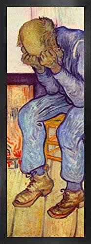 1art1 Vincent Van Gogh Póster Impresión Artística con Marco (Madera DM) - En El Umbral De La Eternidad, Anciano En Pena, 1890 (91 x 30cm)