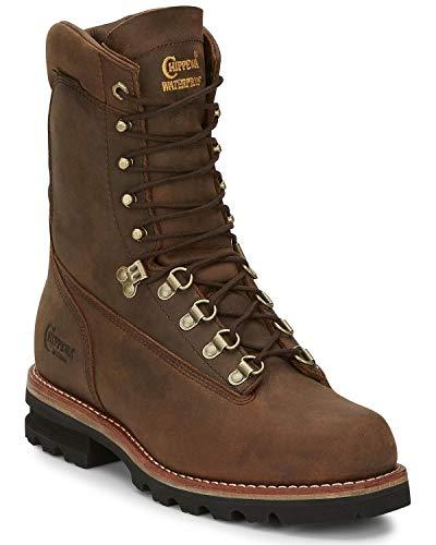Chippewa Men's Weddell Bay Apache Work Boot Soft Toe Brown 9.5 EE