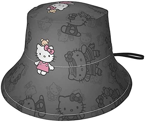 Hello Kitty - Sombrero de sol transpirable para pescador, plegable, sombrero suave, visera de verano, playa, al aire libre, para niños, niñas, bebés, niños y niñas