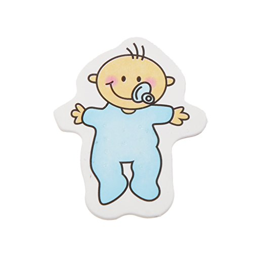 Générique 25pcs Stickers Muraux Baby Shower Décorations Tablier de La Maison - Bleu, Dessin de Tétine