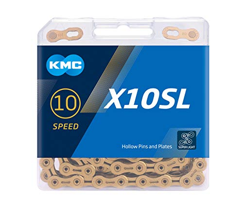 KMC Unisex– Erwachsene X10sl Ti-n Fahrradkette, schwarz, 1size