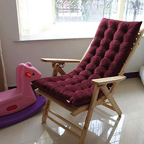 YXB Sun Lounger Cushion Lounge Chair Cojines Chaise Lounge Cojín Patio Chair Cojines Outdoor Colchón Garden Sun Lounger Recliner Interior Veranda-48x120cm (19x47inch) Vino Tinto