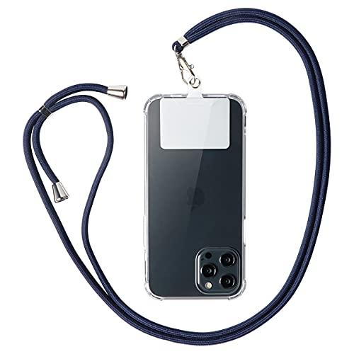 Pnakqil Azul Universal Collar de cordón para teléfono móvil para cordón de Cuello Ajustable Cadena de teléfono Nylon para iPhone Samsung OPPO Xiaomi Huawei y Todos los teléfonos Inteligentes