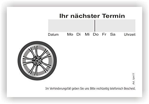 10 Terminblöcke mini mit je 100 Blatt, 1000 Terminzettel tzm11 Reifenhandel, KFZ Werkstatt