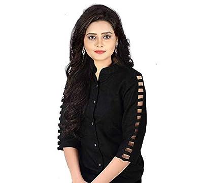 Silkova Women's Black Stylish Rayon top