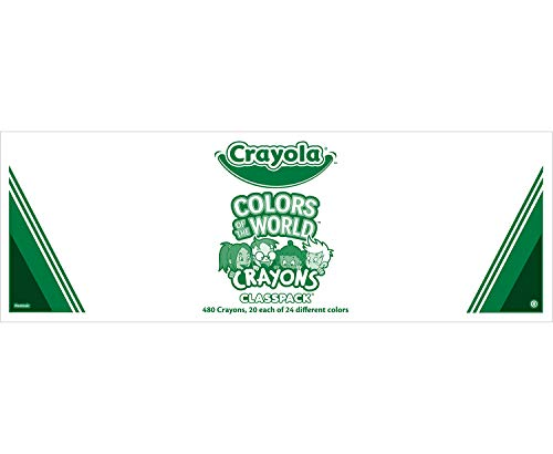 Crayola Colors of The World, Bulk Multicultural Crayons, Amazon Exclusive, 480 Crayons