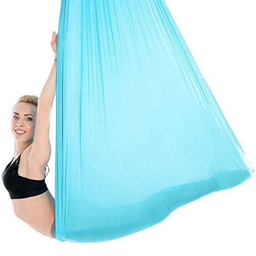 HIMABeauty Juego De Hamaca De Yoga con Accesorios, 196.85 * 110.23 Inch Aerial Yoga Swing para Colgarse Y Aliviar El Dolor De Espalda para Gimnasio, Hogar,Azul