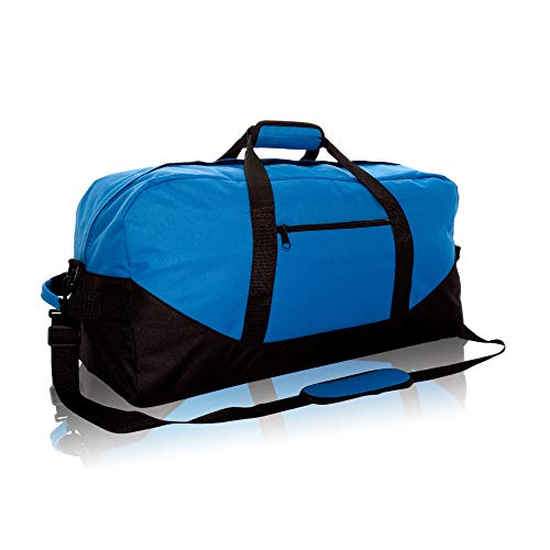 DALIX 25' Big Adventure Large Gym Sports Duffle Bag in Royal Blue