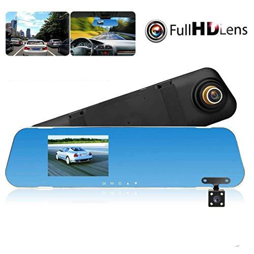 tbparts 4.3'' HD Dual Lens Car DVR Dash Cam Front and Rear Mirror Camera Video Recorder dashcam Auto Voiture registrator blackbox