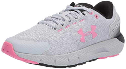 Under Armour UA W Charged Rogue 2, Zapatillas de Running, Gris (Halo Gray/Halo Gray/Lipstick), 35.5 EU