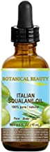 SQUALANE Italian. 100% Pure/Natural/Undiluted Oil. 100% Ultra-Pure Moisturizer for Face, Body & Hair. Reliable 24/7 skincare protection. 0.5 fl.oz- 15 ml. by Botanical Beauty.