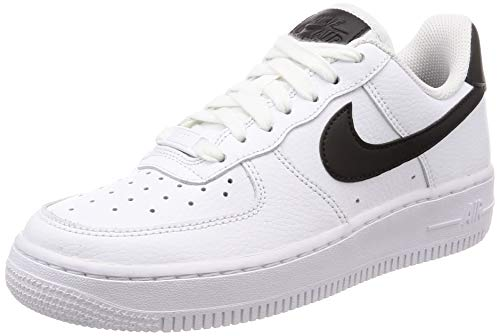 Nike Unisex Air Force 1 '07 Turnschuh, White White Black, 40 EU