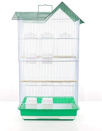 Pet s Solution Gabbia voliera per Uccelli pappagalli inseparabili cocorite calopsite parrocchetti (Verde)