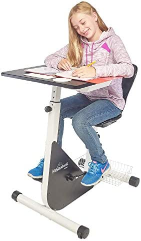 FitStudent Junior Bike Desk Standing Desk Exercise Bike Pedal Machine with Stabilizer Wheels product image