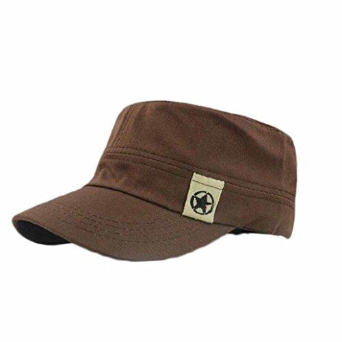 Malloom Tetto Piano Militare Hat Cadetto Patrol Cappello Australiano di Baseball Cappello Campo cap (caffè)