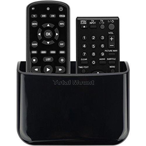 TotalMount Universelle Halterung für eine Fernbedienung TV Wandhalterung Tischhalter Aufbewahrungs Kasten für 2 Fernbedienung nebeneinander