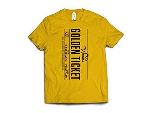 Camiseta de disfraz de Golden Ticket  2020 Da Mundial del Libro para nios libros peinados de algodn hilado en anillo de alta densidad de puntada extrema comodidad camiseta superior