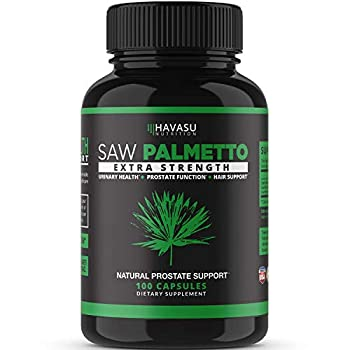 Havasu Nutrition Saw Palmetto Supplement | Prostate Health Hair Loss DHT Blocker | Supports Those with Frequent Urination | Gluten Free Non-Gmo 100 Saw Palmetto Capsules