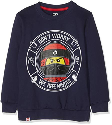 Lego Wear Jungen Lego Boy Ninjago CM-73088 Sweatshirt, Blau (Dark Navy 590), 104
