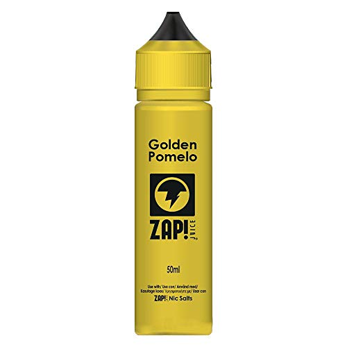 ZAP! Juice Nikotinfreier Vape Juice 50ml Shorfill für alle E-Zigaretten und Mods | Einzigartige Fruchtmischung Vape e-Liquid 0mg Nikotin (Golden Pomelo)
