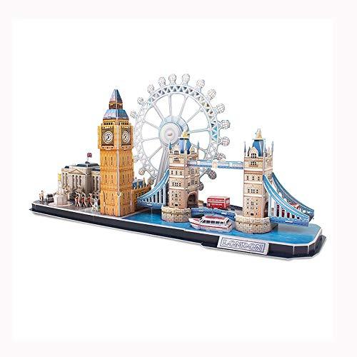LMCLJJ Puzzles 3D Londres Cityline construcción de Modelos