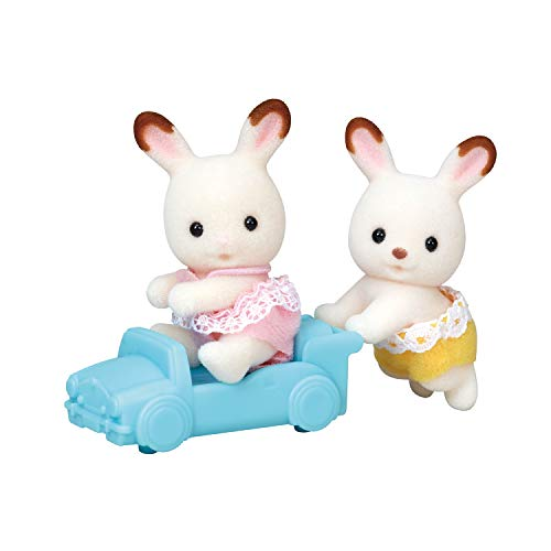 Calico Critters Hopscotch Rabbit Twins, Assorted, Dolls, Collectible Toys (ASSORTED STYLES)