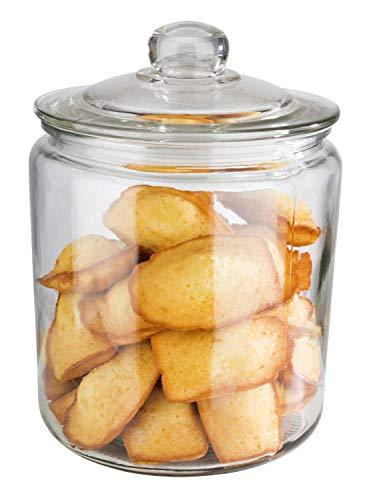 """APS Vorratsglas """"Classic"""" – Hochwertiger Glasbehälter zur Aufbewahrung mit 4,0 Liter Fassungsvermögen – Ihre Ware bleibt frisch durch den Glasdeckel mit Dichtung, Aufbewahrungsbehälter"""