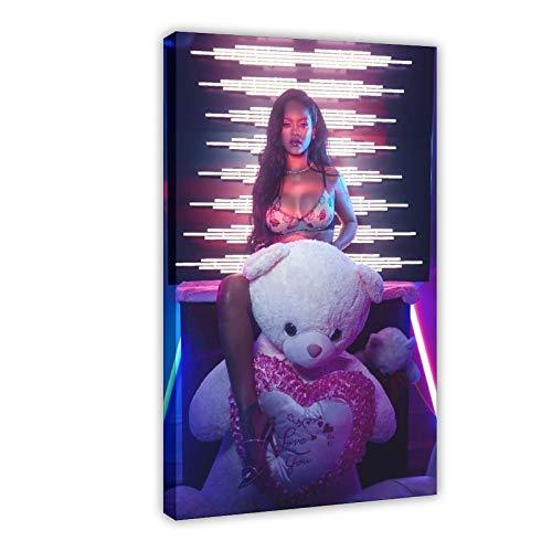 Rihanna - Póster de pared para sala de estar, dormitorio, 25 x 75 cm, diseño de cuadros, para sala de estar, dormitorio, decoración de 50 x 75 cm