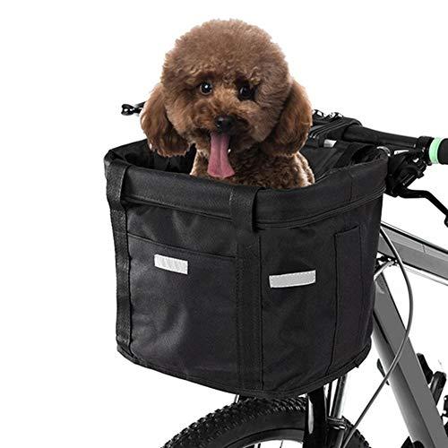 Fahrradkorb Vorne Abnehmbar Wasserdicht Fahrrad Lenker Korb?für kleine Haustiere, Katzen, Hunde?33 x24 x 23cm