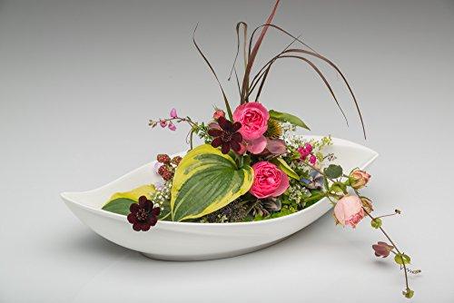 Sandra Rich 360173 Bol décoratif, Porcelaine, Blanc, 40,2 x 16.2 x 8.8 cm