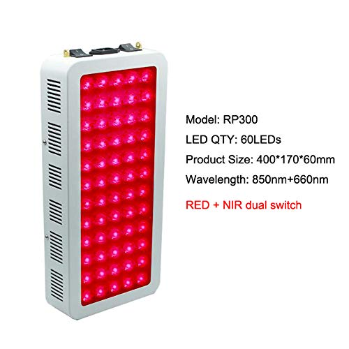 NCCTRW 300W 500W 1000W Rotlicht-Therapielampe Rot 660nm & Nahinfrarot 850nm, Ganzkörper-LED-Lichttherapie zur Haut- und Schmerzlinderung,300W