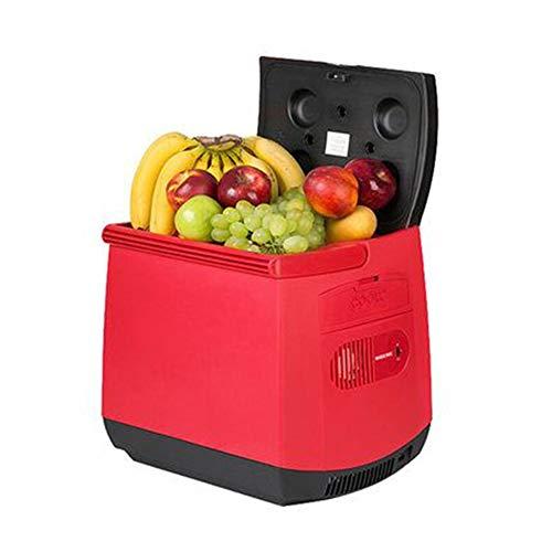 YWW-DJ 25 Liter tragbaren Mini-Kühlschrank mit Kühl und Funktion Warming |AC/DC 12V 24V 110-240V (Color : Red)
