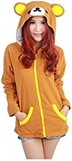 LATH.PIN Hoodie Sweater Jacket Cartoon Animal Unisex Cosplay Costume (X-Large, Rilakkuma)