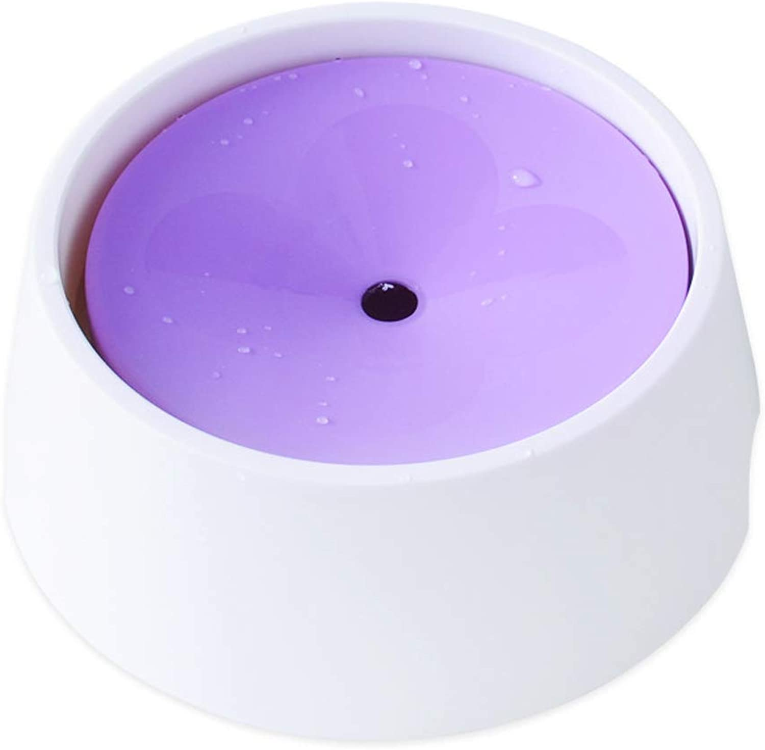 Dog Bowl Water and Food with Floating Disk Pet Bowl, Slow Feeder AntiChoking AntiOverflow Bowl,Skid and AntiChoking Dripless Bowl,for Small Or Large Breeds,Purple