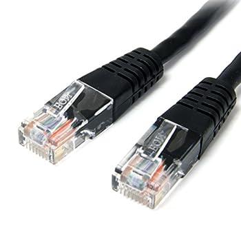 StarTech.com Cat5e Ethernet Cable - 10 ft - Black - Patch Cable - Molded Cat5e Cable - Network Cable - Ethernet Cord - Cat 5e Cable - 10ft  M45PATCH10BK