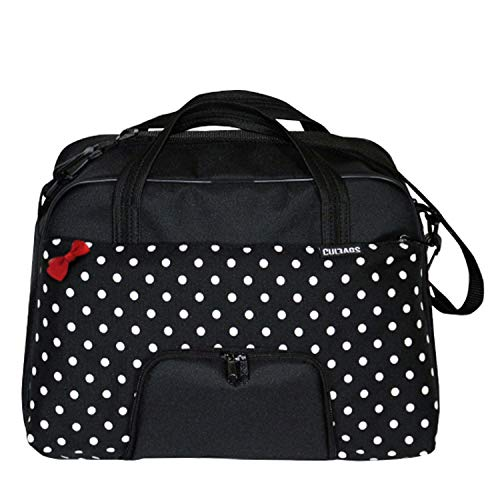 C-BAGS QUEEN POLKA DOTS Gepäckträger Fahrradtasche Tasche verschiedene Muster (black-white)